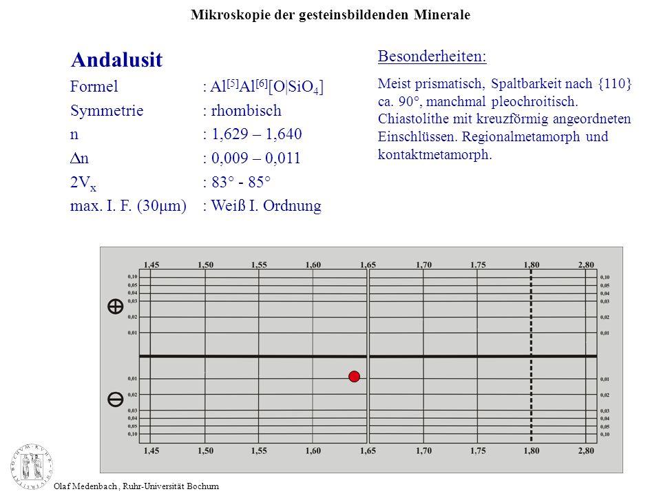 Andalusit Besonderheiten: Formel : Al[5]Al[6][O|SiO4]